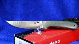"Spyderco 蜘蛛 Phil Wilson Southfork Hunting Knife 4.8"" S90V FB30GP 一体龙骨刀"