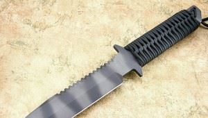 STRIDER 美国挺进者BN SS Black Cord Wrap Tactical Fixed Blade Knife - SOLD黑色伞绳柄