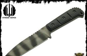 Strider 美国挺进者 MSS T Tiger Stripes Tactical Fixed Blade Knife T头虎纹战术匕首