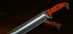 BUSSE美国巴斯战斗刀NMFBM ASH1 Satin Blade with Magnum Orange/Black Hand Shaped G10 骨灰级收藏限量版