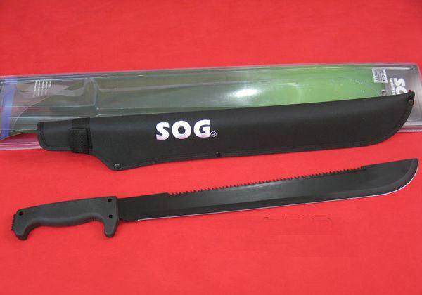 黑色开山刀_美国哨格SOGMC-02 黑色全刃背齿开山刀_S.O.G.-索格_铁马名刀网