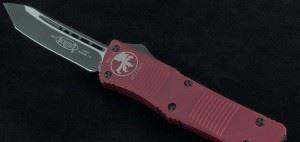 美国微技术 MICROTECH 144-1RD COMBAT TROODON RED T/E红色铝柄黑色TANTO直跳