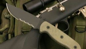 Ontario美国安大略 TAK-1 Survival Tactical Knife 1095钢黑色半齿战术直刀