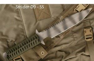 STRIDER美国挺进者D9 SS Ranger Green Tactical Fixed Blade Knife -SOLD 军绿伞绳柄高端战斗刀